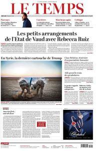 Le Temps - 21 décembre 2018