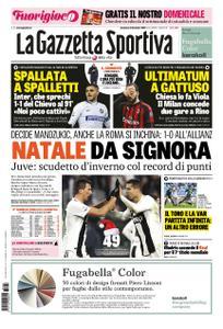 La Gazzetta dello Sport Roma – 23 dicembre 2018