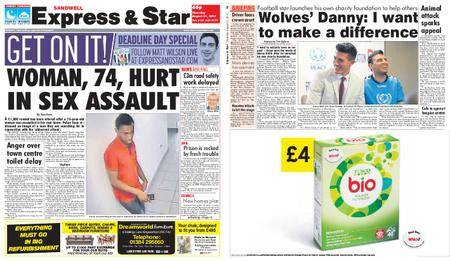 Express and Star Sandwell Edition – August 31, 2017