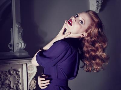 Jessica Chastain by Max Vadukul for Yves Saint Laurent