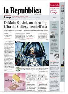 la Repubblica - 20 Aprile 2018
