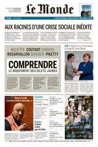 Le Monde du Dimanche 9 et Lundi 10 Décembre 2018