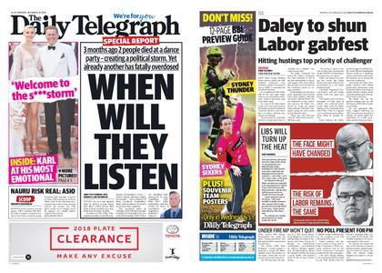 The Daily Telegraph (Sydney) – December 10, 2018