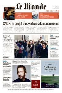Le Monde du Samedi 31 Mars 2018
