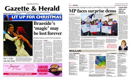 Gazette & Herald – December 13, 2018