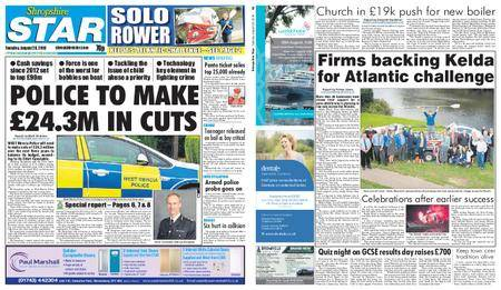Shropshire Star Shrewsbury Edition – August 28, 2018