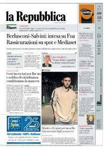 la Repubblica - 17 Settembre 2018