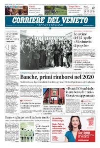 Corriere del Veneto Vicenza e Bassano – 25 aprile 2019