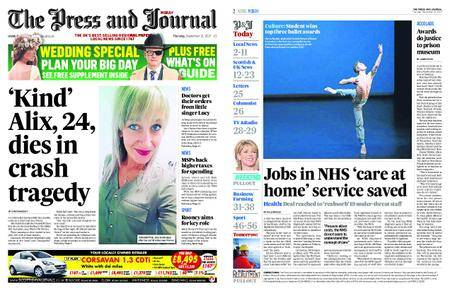 The Press and Journal Moray – September 21, 2017