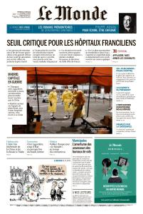 Le Monde du Vendredi 27 Mars 2020