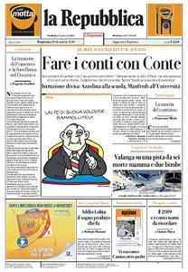 la Repubblica - 29 Dicembre 2019