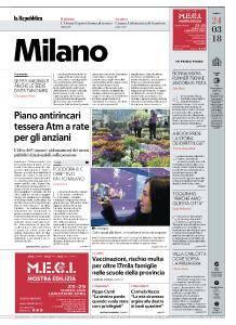 la Repubblica Milano - 24 Marzo 2018