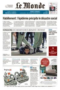 Le Monde du Vendredi 3 Juillet 2020