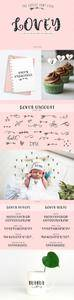 Cute heart font family Lovey 2338463