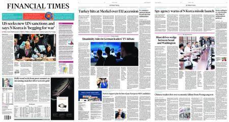 Financial Times Europe – September 05, 2017