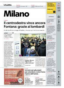 la Repubblica Milano - 5 Marzo 2018