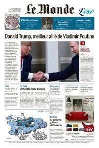 Le Monde du Mercredi 18 Juillet 2018