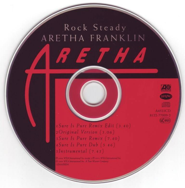 Aretha Franklin - Rock Steady (Sure Is Pure Remix) [CD Maxi-Single] (1994)