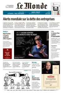 Le Monde du Vendredi 18 Octobre 2019