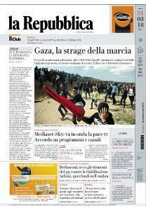 la Repubblica - 31 Marzo 2018