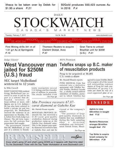 Stockwatch Daily - February 7, 2017