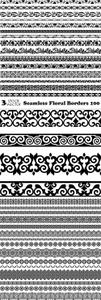 Vectors - Seamless Floral Borders 100