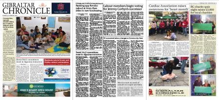Gibraltar Chronicle – 25 February 2020