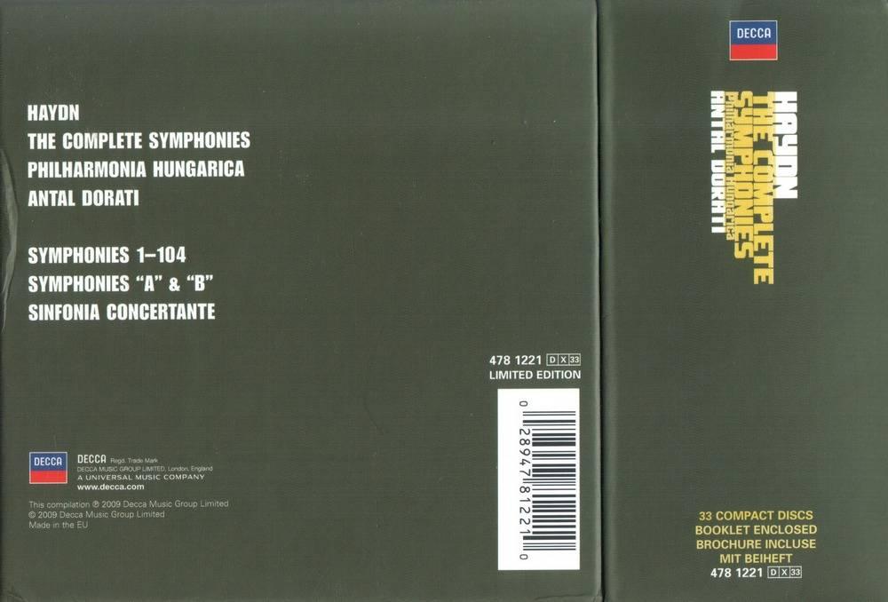 Antal Doráti - Haydn - The Complete Symphonies (33CD) (2009) (Repost)