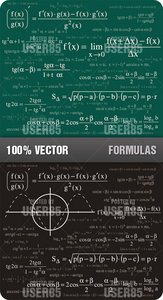 Stock Vector - Formulas