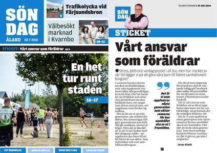 Ålandstidningen – 29 juli 2018