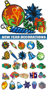 New Year vector decorations