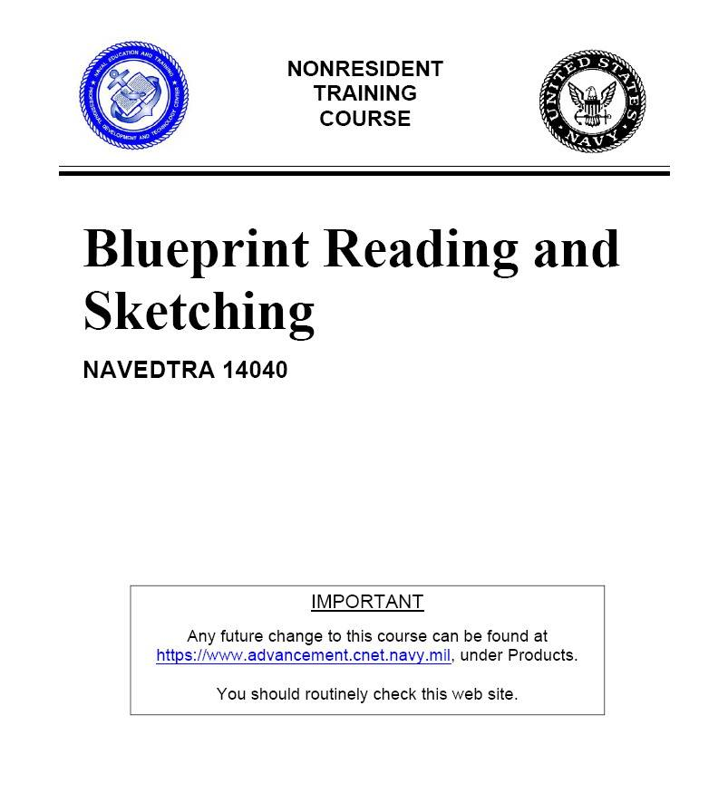 US Navy Construction Course Blueprint reading and scetching |PDF|185p| 4Mb