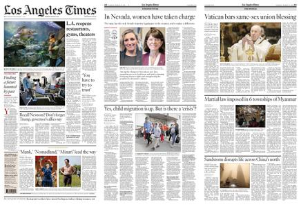 Los Angeles Times – March 16, 2021