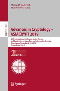 Advances in Cryptology – ASIACRYPT 2019