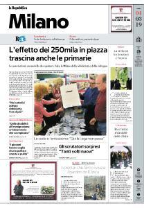la Repubblica Milano - 4 Marzo 2019