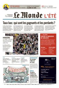 Le Monde du Mercredi 14 Août 2019