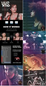 GraphicRiver - VHS Photoshop Action 23348871