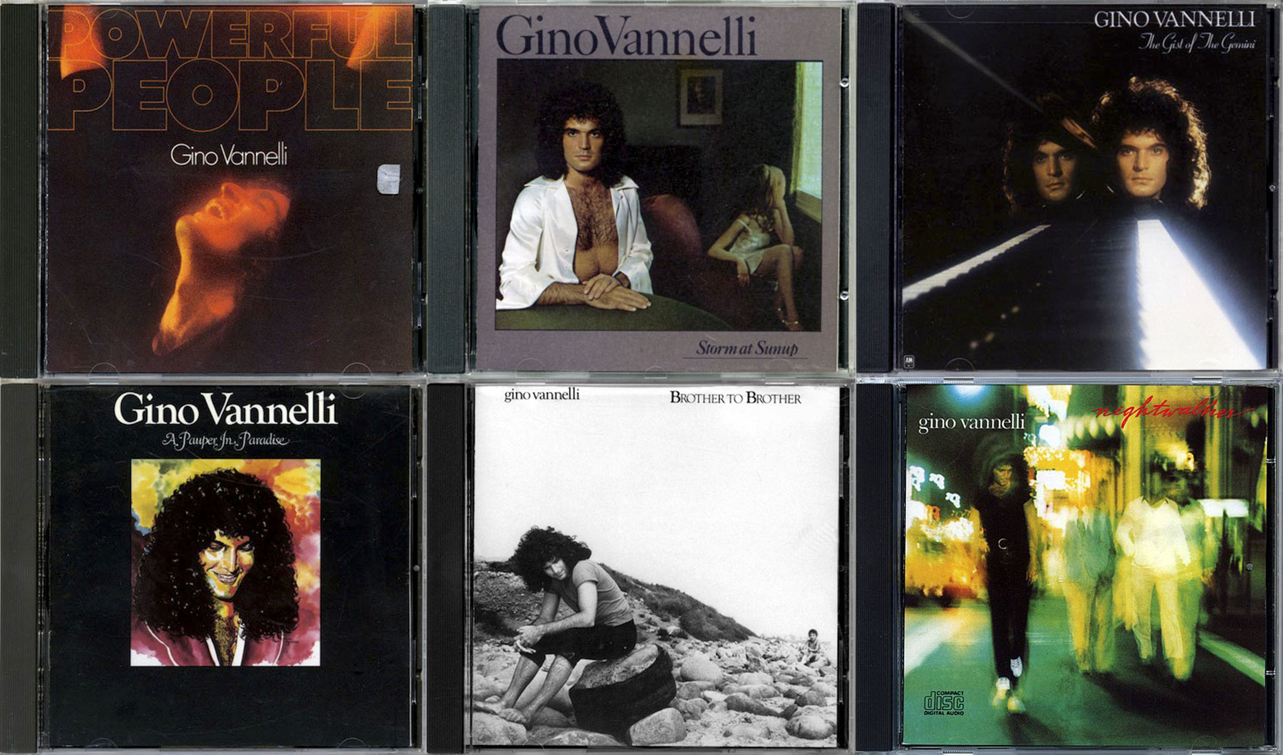 Gino Vannelli - Albums Collection 1974-1987 (7CD) Non-Remastered Releases [Combined Re-Up]