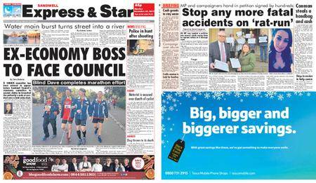 Express and Star Sandwell Edition – November 27, 2017