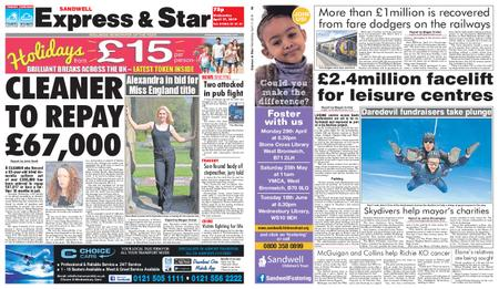 Express and Star Sandwell Edition – April 17, 2019