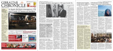 Gibraltar Chronicle – 14 March 2020