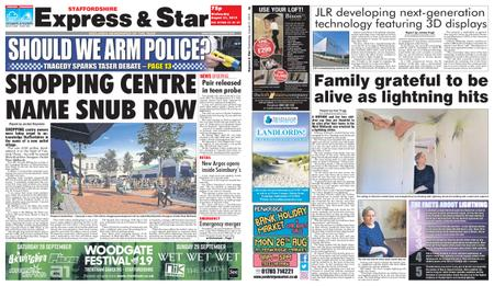Express and Star Staffordshire Edition – August 21, 2019
