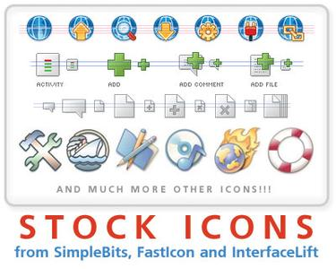 High-quality stock icons from SimpleBits, InterfaceLift and Fast Icon