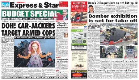 Express and Star Sandwell Edition – October 30, 2018