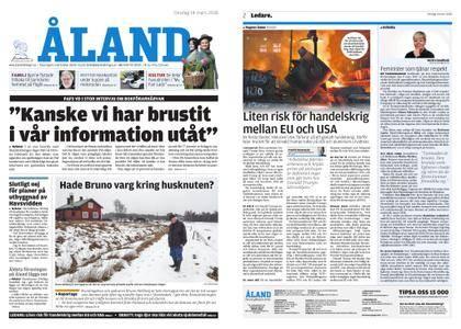 Ålandstidningen – 14 mars 2018