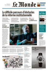 Le Monde du Vendredi 6 Avril 2018