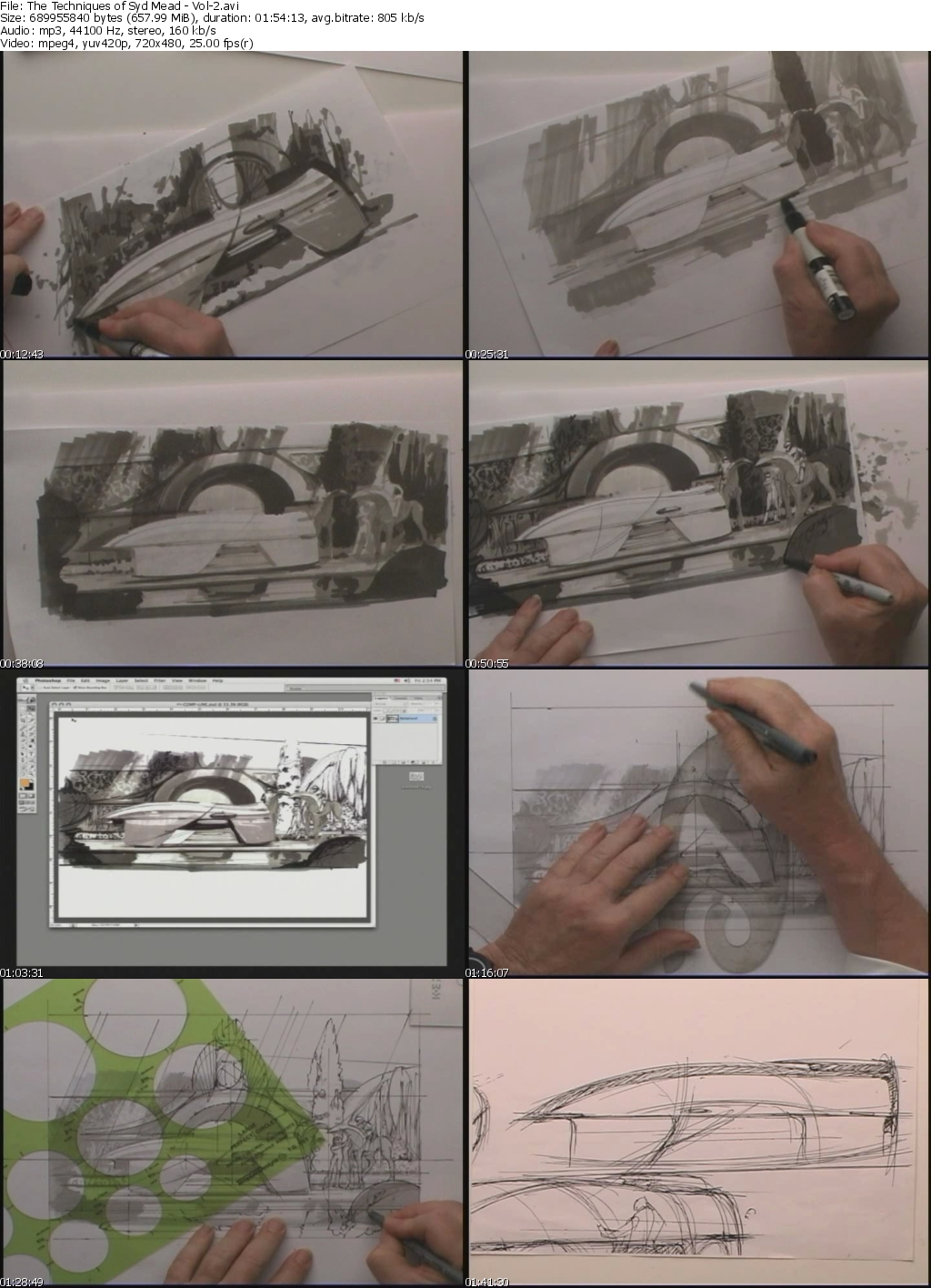 Gnomon Workshop - The Techniques of Syd Mead - Vol-2 Value Sketching (step by step)
