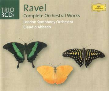 Claudio Abbado, London Symphony Orchestra - Maurice Ravel: Complete Orchestral Works (2002) (3CD Box Set)