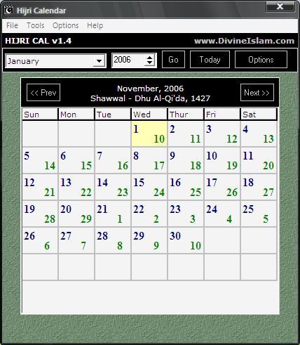 Portable Hijri Calendar v1.4