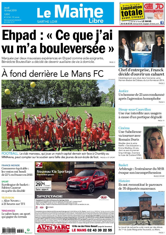 Le Maine Libre Sarthe Loir – 16 mai 2019